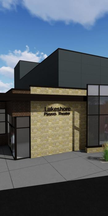 Rendering of new Lakeshore Players Theater building